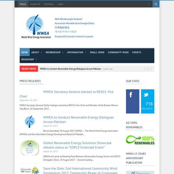 World Wind Energy Association - Home