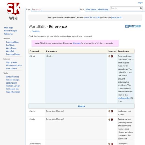 WorldEdit/Reference