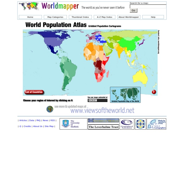 Worldmapper World Population Atlas: The countries of the world as you've never seen them before