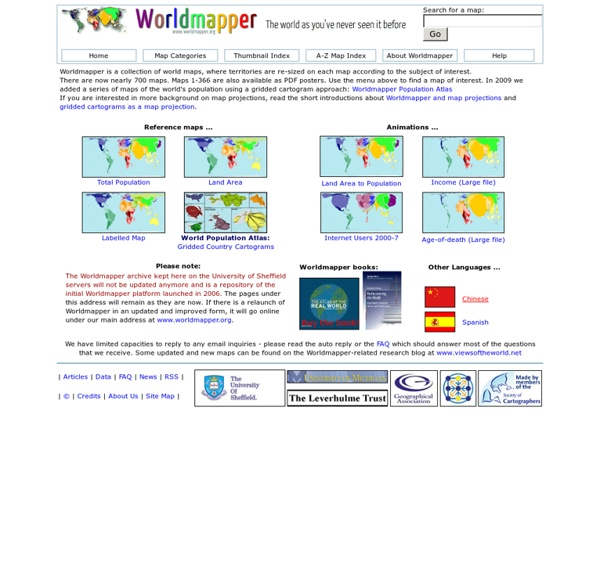 Worldmapper: The world as you've never seen it before