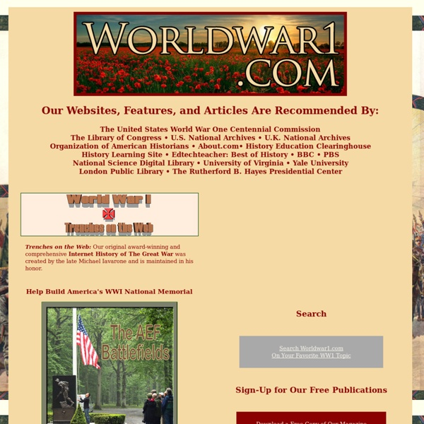 World War I - Trenches on the Web