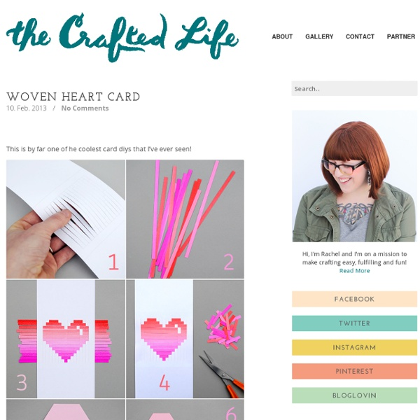 Woven Heart Card (via Minie Co)