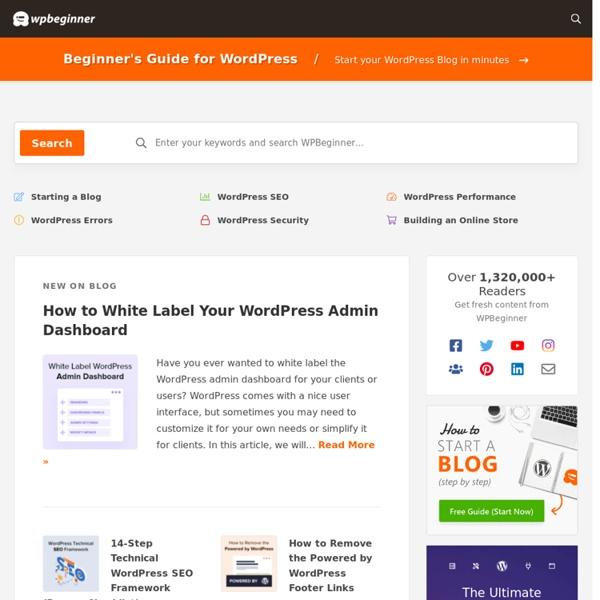 WPBeginner - Beginner's Guide for WordPress