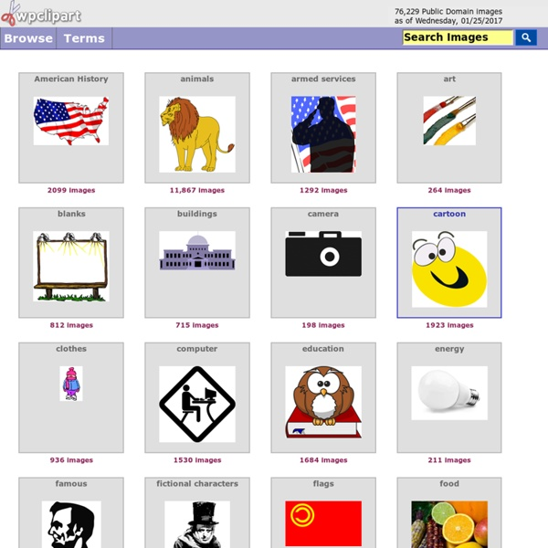 Public Domain clip art at WPClipart, top thumbnail browsing page