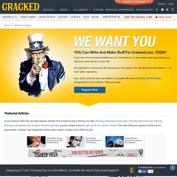 Write for Cracked.com