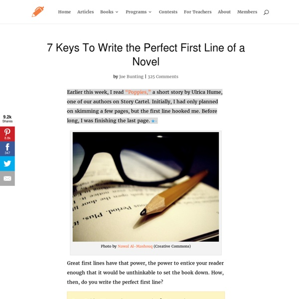 7 Keys To Write the Perfect First Line of a Novel
