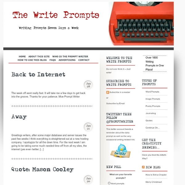 The Write Prompts