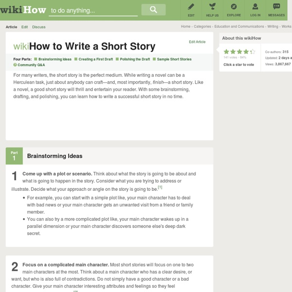 How to Write a Short Story: 15 Steps