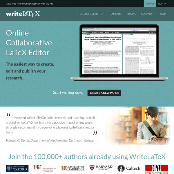 WriteLaTeX: Online Collaborative LaTeX Editor with Integrated Rapid Preview