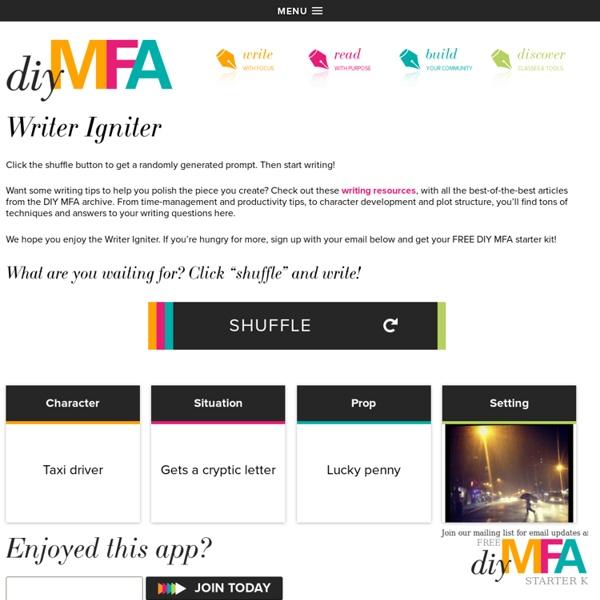 Writer Igniter - DIY MFA