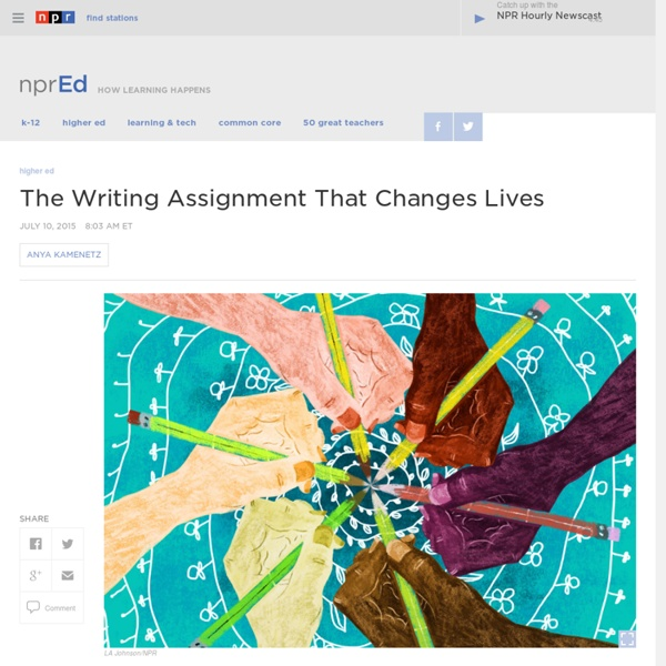 The Writing Assignment That Changes Lives : NPR Ed