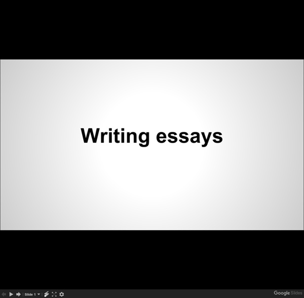 Writing an essay - Google Slides