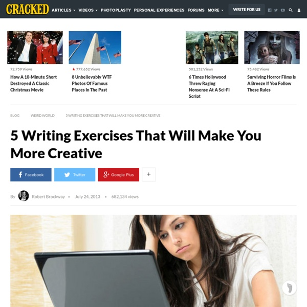 5 Writing Exercises That Will Make You More Creative