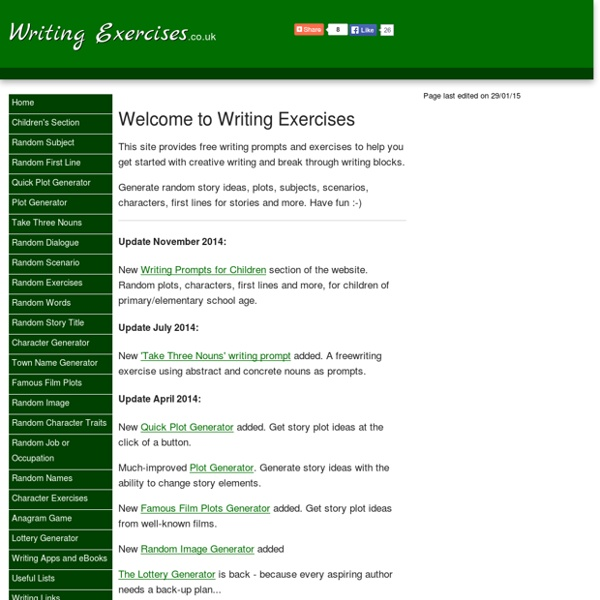 Writing Exercises and Prompts