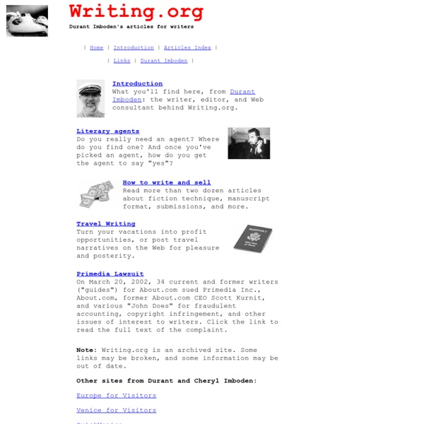 Writing.org - Advice for Freelance Writers
