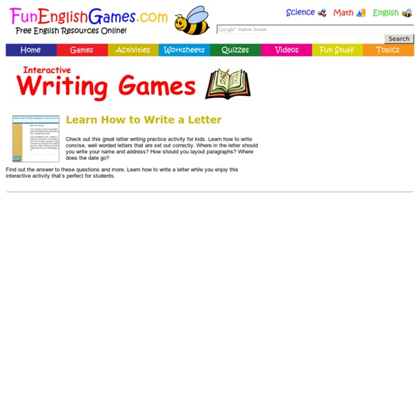 Letter Writing Practice Activity for Kids - Learn How to Write a Letter