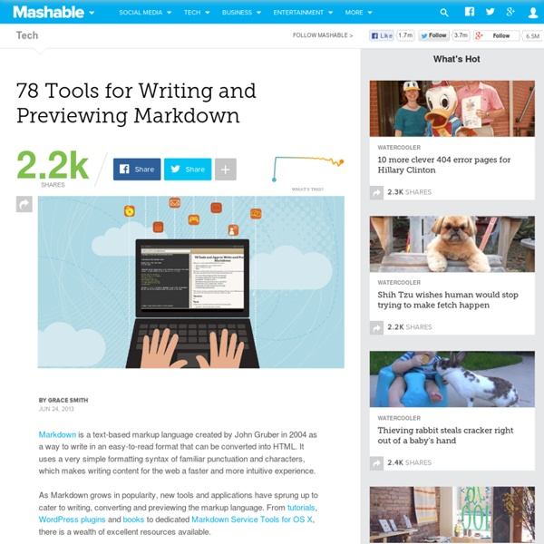 78 Tools for Writing and Previewing Markdown