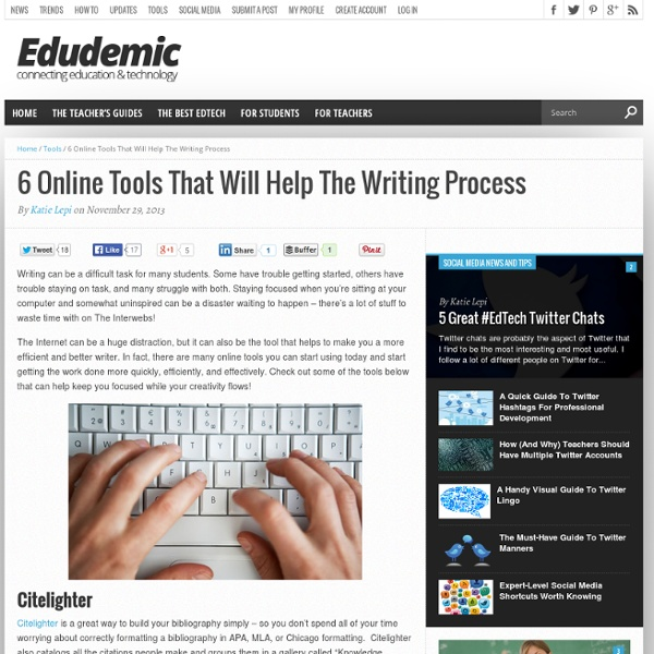 6 Online Tools That Will Help The Writing Process
