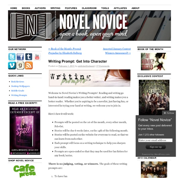Writing Prompt: Get Into Character « Novel Novice