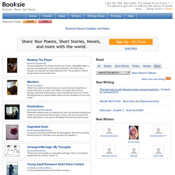 Share Your Writing - Free Publishing to Share Novels, Short Stories, Poems, and More.