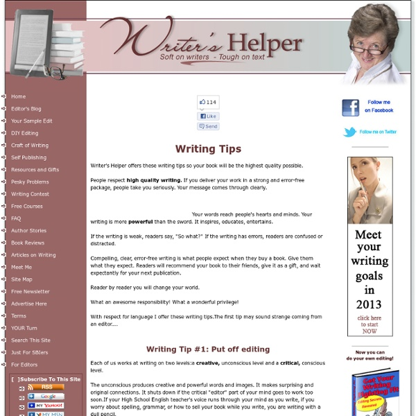 Writing Tips - General