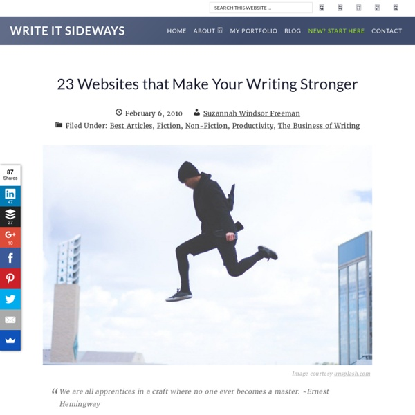 23 Writing Websites to Improve Your Writing