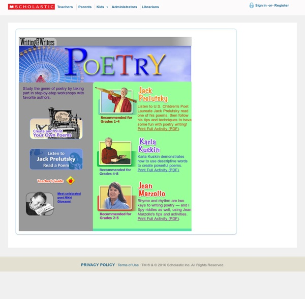 Writing with Writers: Poetry Writing
