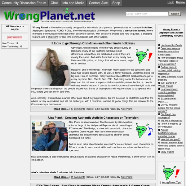 Wrong Planet - Autism Community