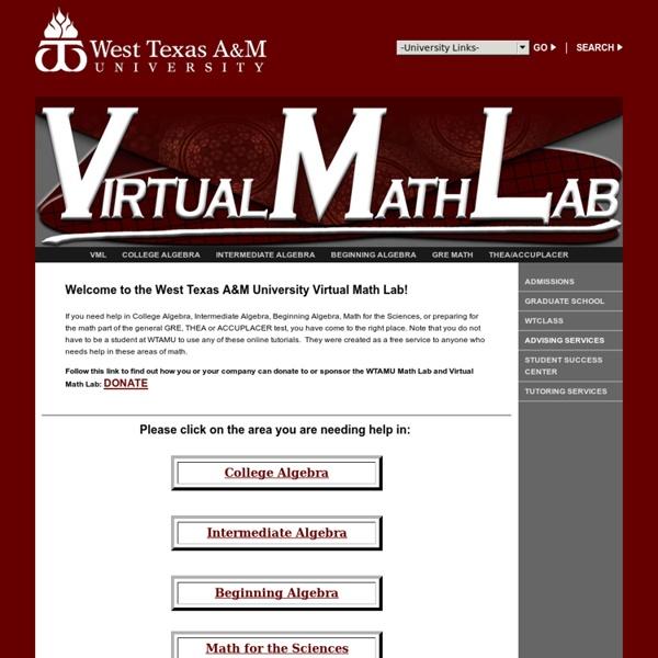 Virtual Math Lab