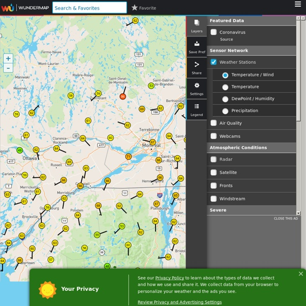 Interactive Weather Map and Radar