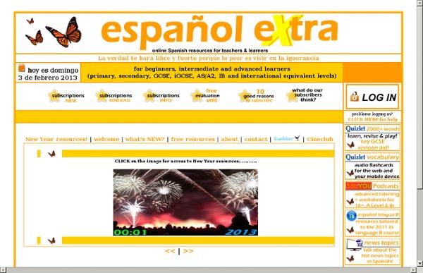 Www.espanol-extra.co.uk - www.spanish-extra.co.uk - español eXtra - Spanish eXtra