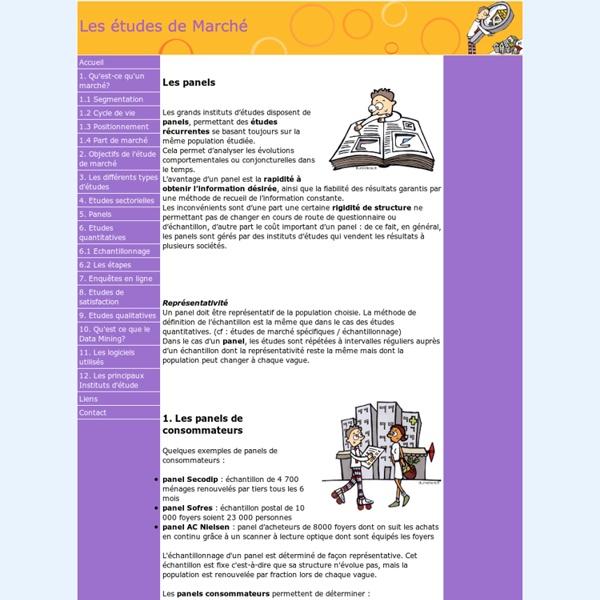 Www.etudesdemarche.net - 5. Panels