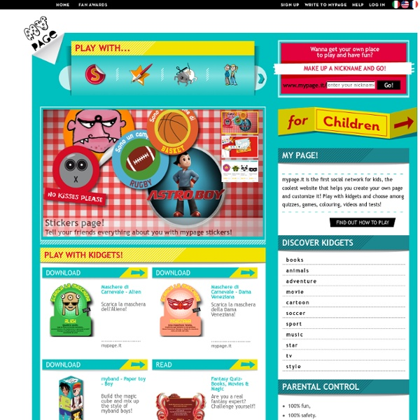 Extraordinary web for kids.
