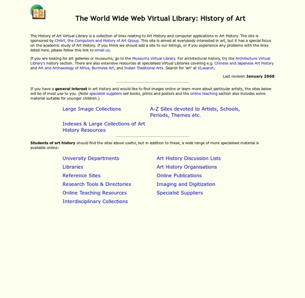WWW Virtual Library: Art History