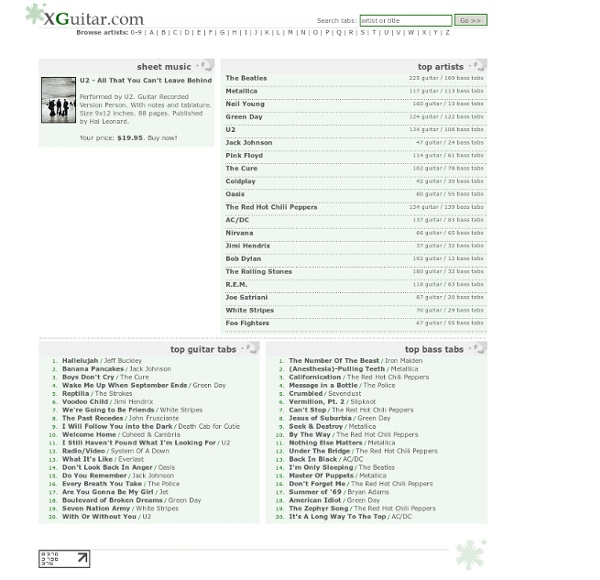 XGuitar.com - guitar tabs