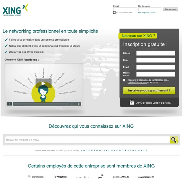 Xing - Le réseau professionnel