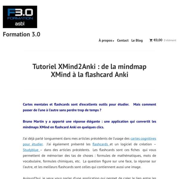 Tutoriel XMind2Anki : de la mindmap XMind à la flashcard Anki