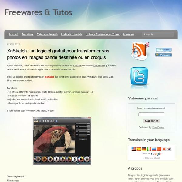 XnSketch : un logiciel gratuit pour transformer vos photos en images bande dessinée ou en croquis