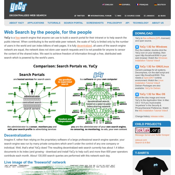 Yacy - The Peer To Peer Search Engine