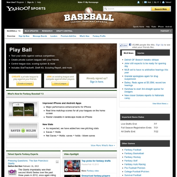Sports Fantasy Baseball | Pearltrees - photo#40