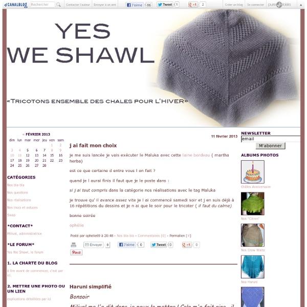 Yes we shawl !