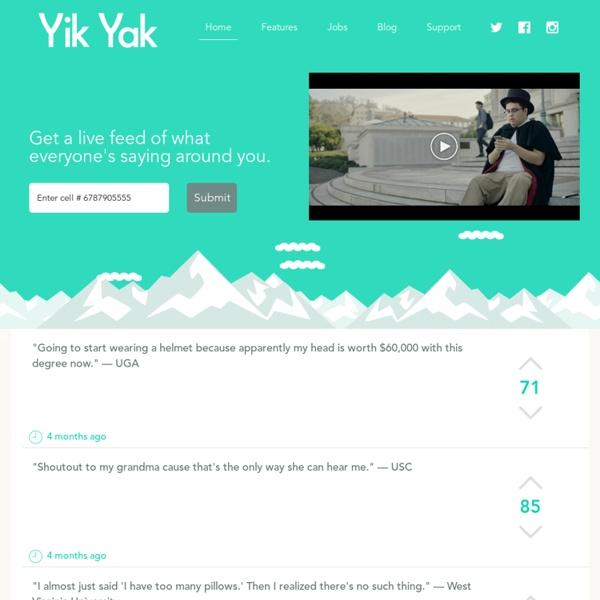 Yik Yak - Ride the Yak
