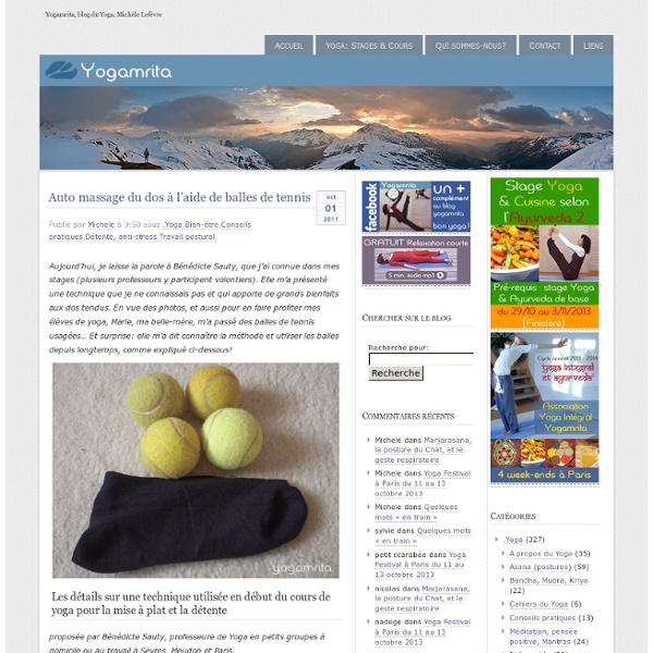 Auto massage du dos à l'aide de balles de tennis