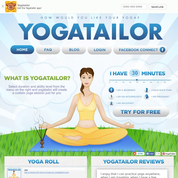 YogaTailor - Custom Online Yoga Downloads. DVD-Quality Videos of Yoga Exercises for Health and Stress Relief