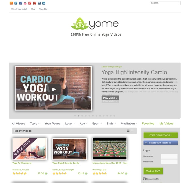 YOME-100% FREE Online Yoga Videos