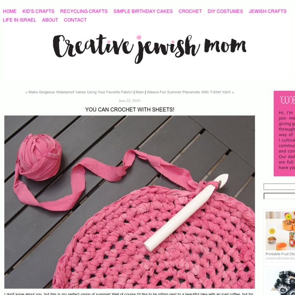 You Can Crochet With Sheets!