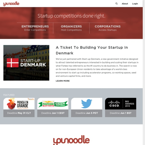 Helping startups grow through competitions