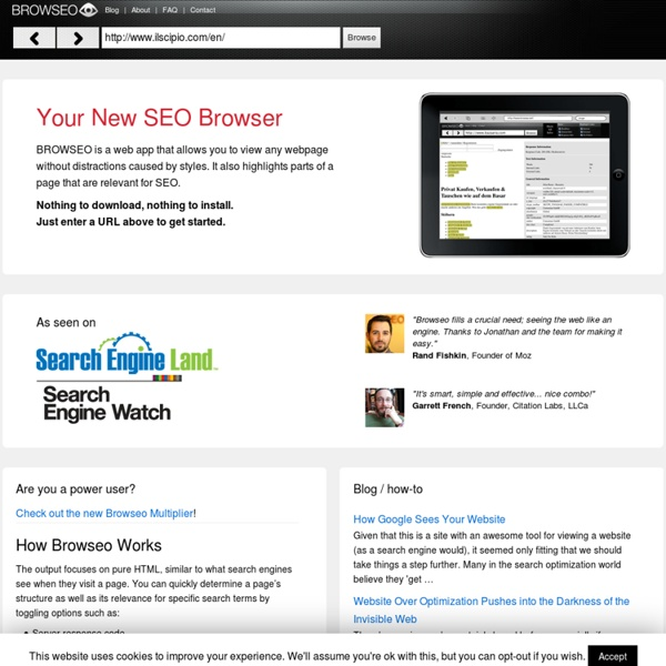 Your New SEO Browser: Browseo