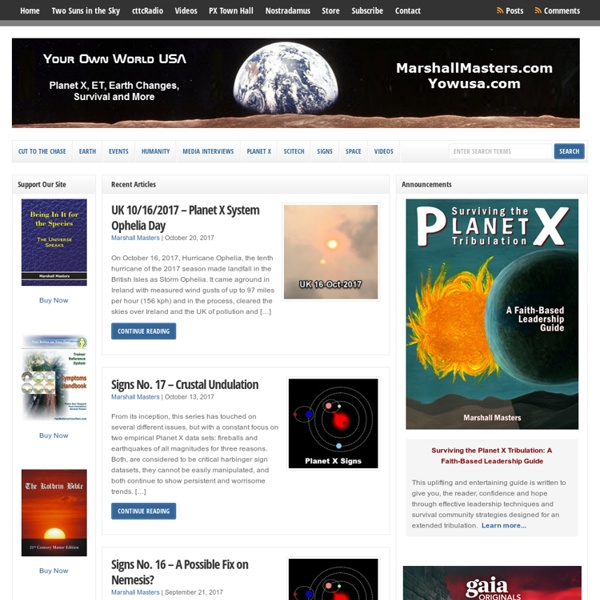 Planet X / Nibiru - Hundreds of Pages, Videos and Audios For Free