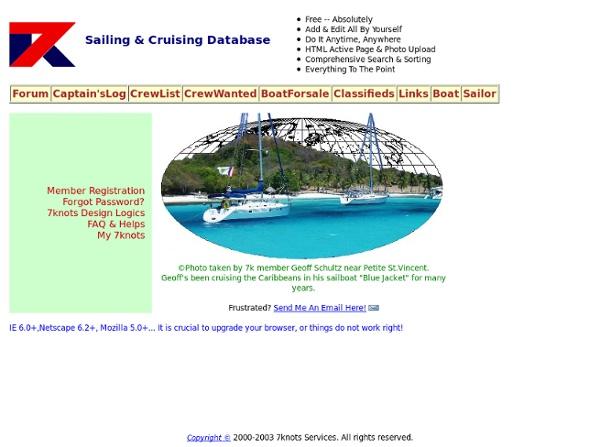 Do-It-Yourself Sailing & Cruising Database